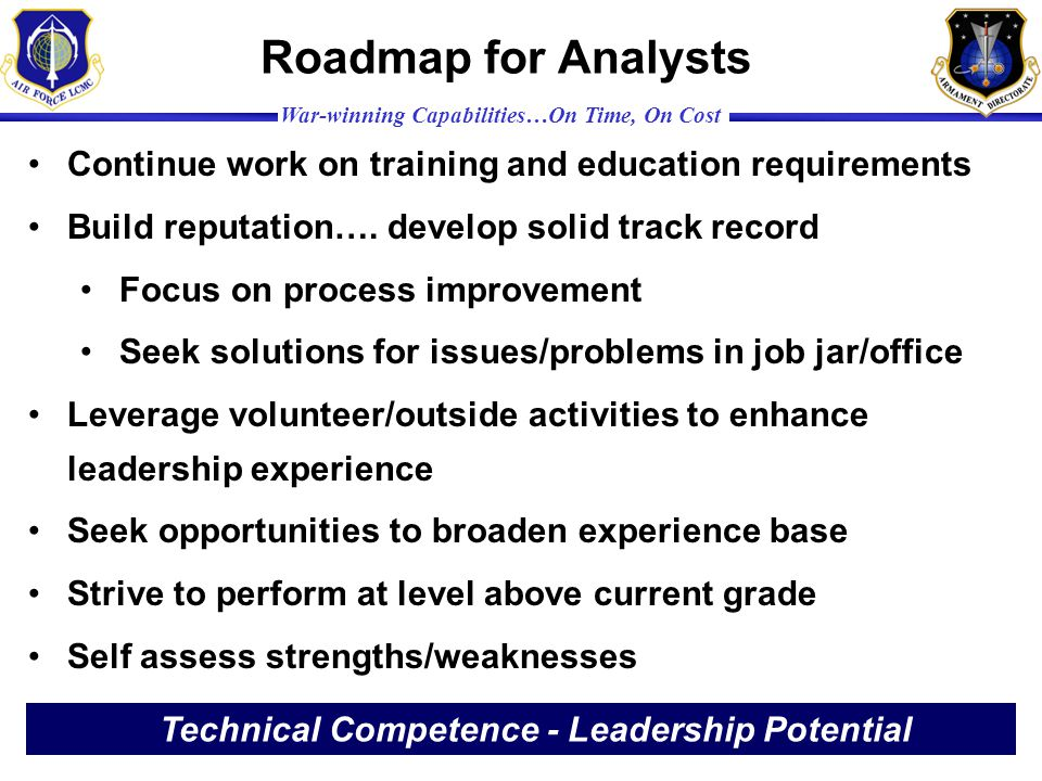 Technical Competence - Leadership Potential