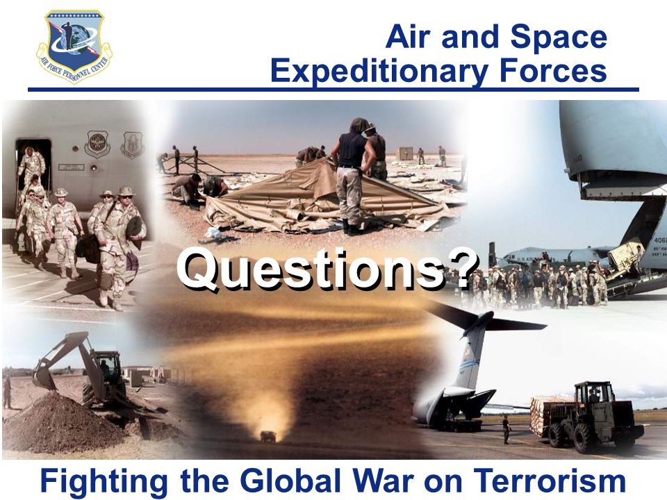 Questions Air and Space Expeditionary Forces