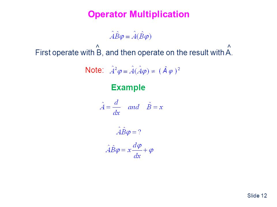 Operator Multiplication