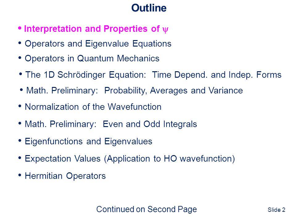 • Interpretation and Properties of 