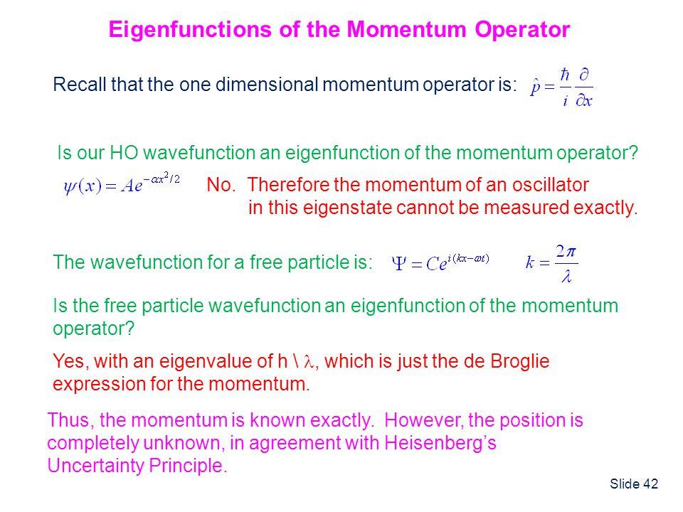 Eigenfunctions of the Momentum Operator