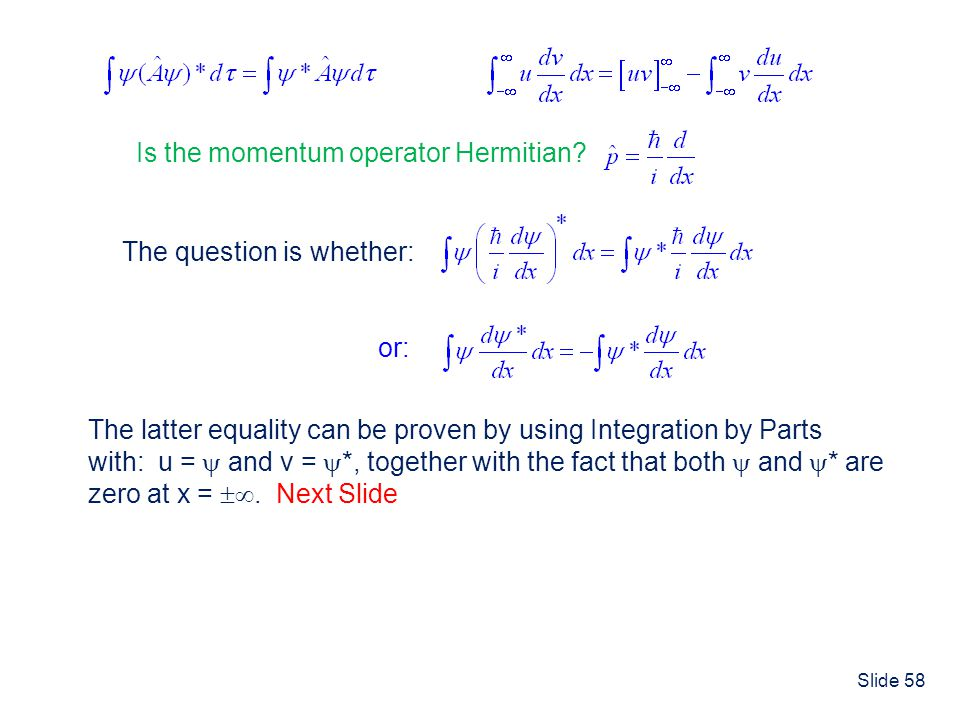 Is the momentum operator Hermitian