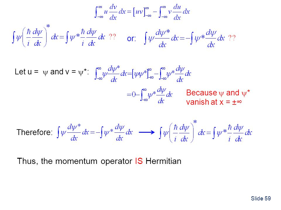 Thus, the momentum operator IS Hermitian