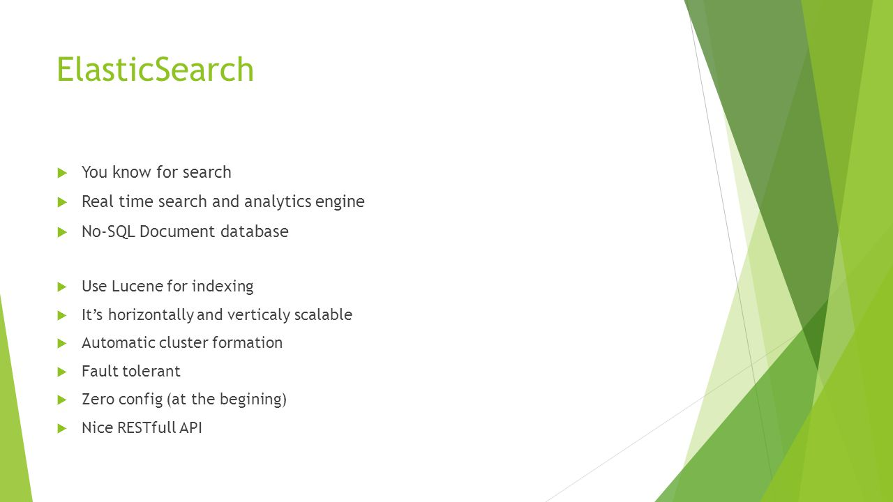 ElasticSearch You know for search