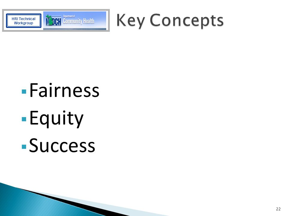 Fairness Equity Success Key Concepts Suggested Points of Interest: