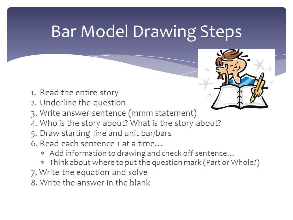 Bar Model Drawing Steps