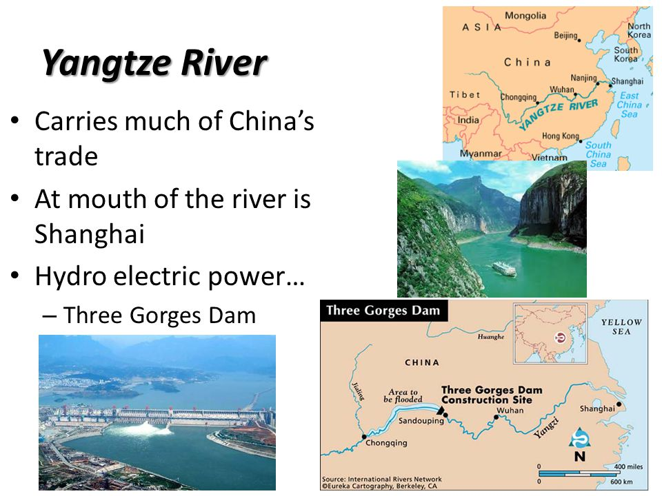 Yangtze River Carries much of China's trade