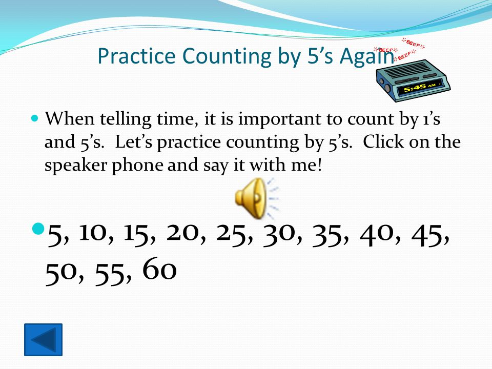 Practice Counting by 5's Again