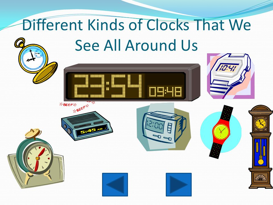 Different Kinds of Clocks That We See All Around Us