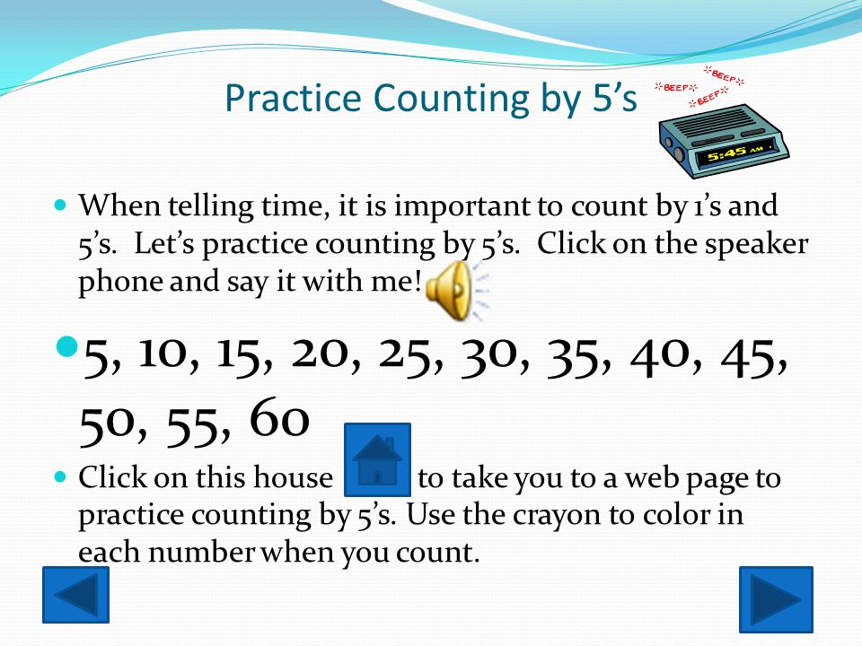Practice Counting by 5's