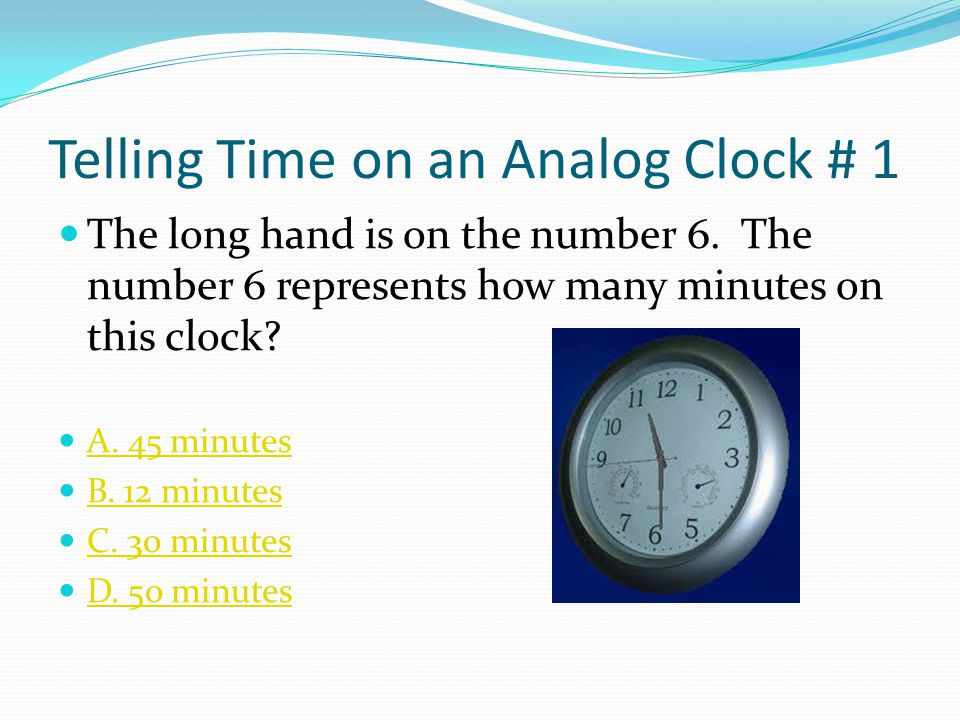 Telling Time on an Analog Clock # 1