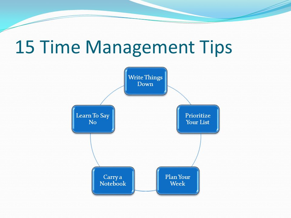 15 Time Management Tips Write Things Down Prioritize Your List