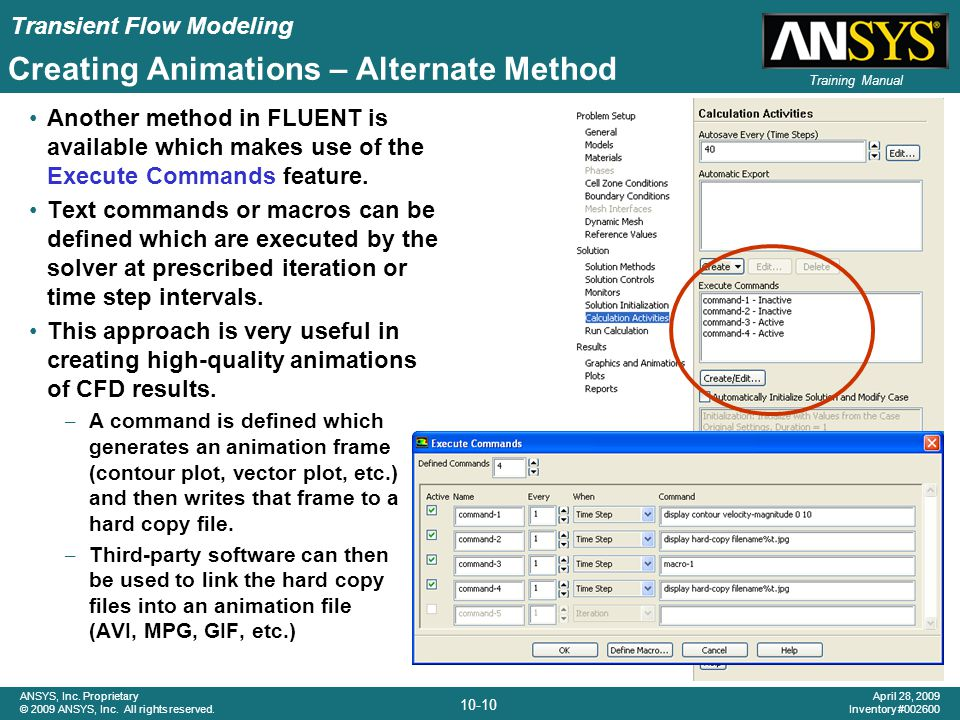Creating Animations – Alternate Method