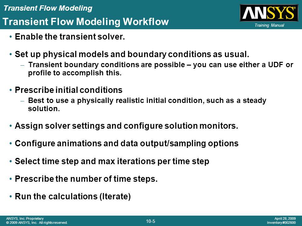 Transient Flow Modeling Workflow