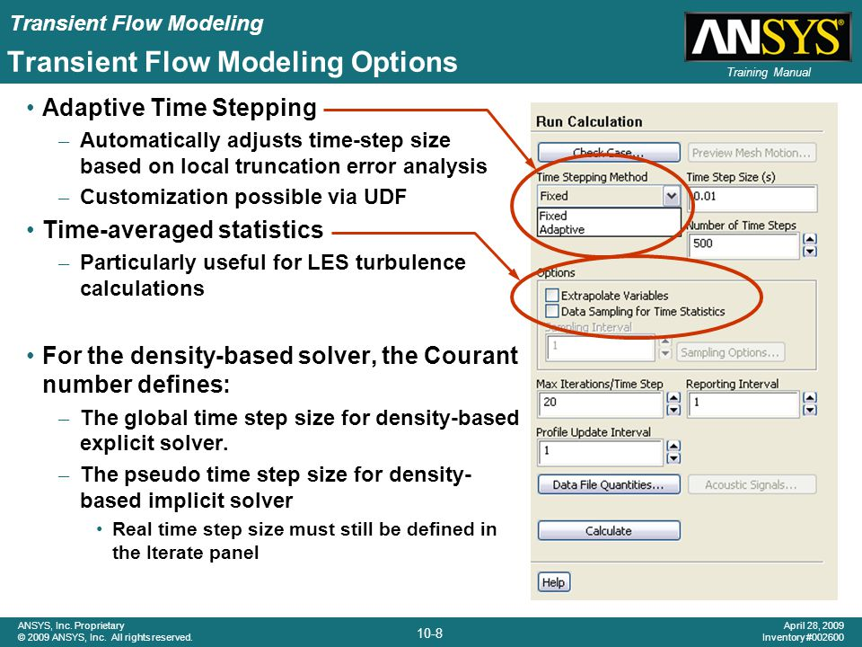Transient Flow Modeling Options