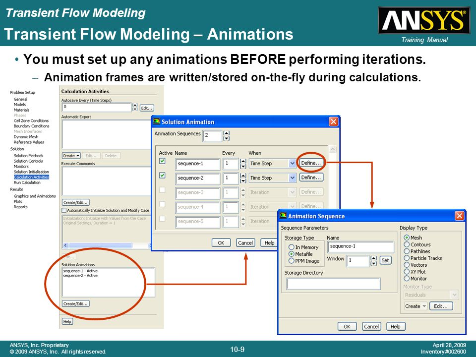 Transient Flow Modeling – Animations