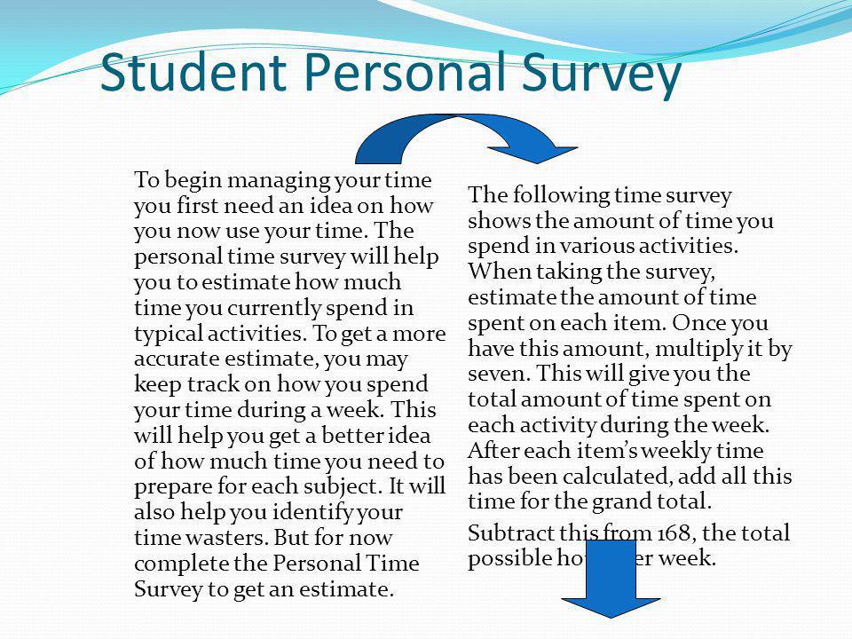 Student Personal Survey