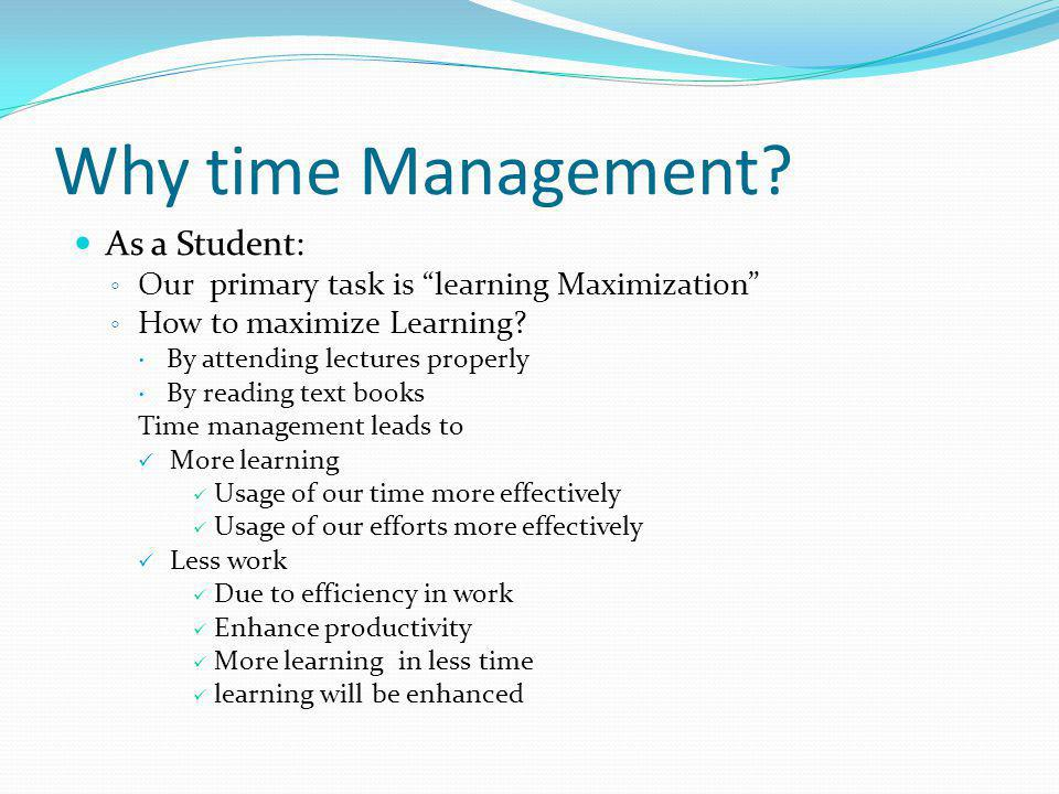 Why time Management As a Student:
