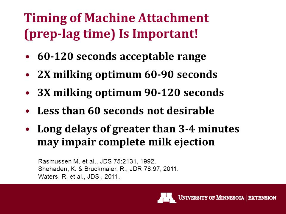 Timing of Machine Attachment (prep-lag time) Is Important!