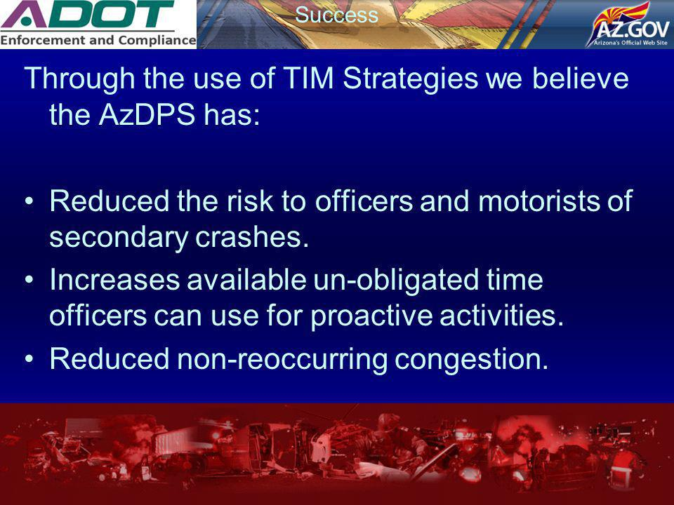 Through the use of TIM Strategies we believe the AzDPS has: