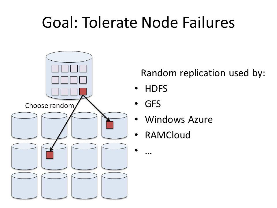 Goal: Tolerate Node Failures