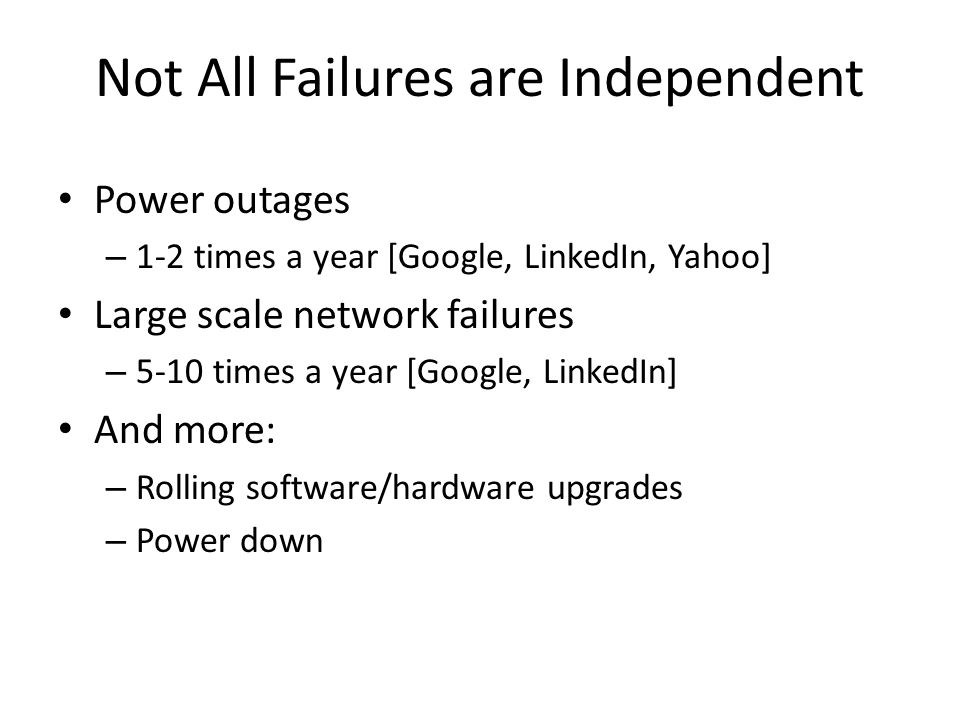 Not All Failures are Independent