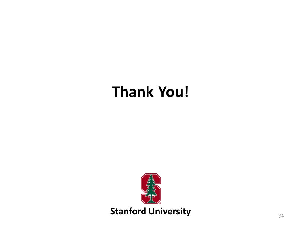 Thank You! Stanford University
