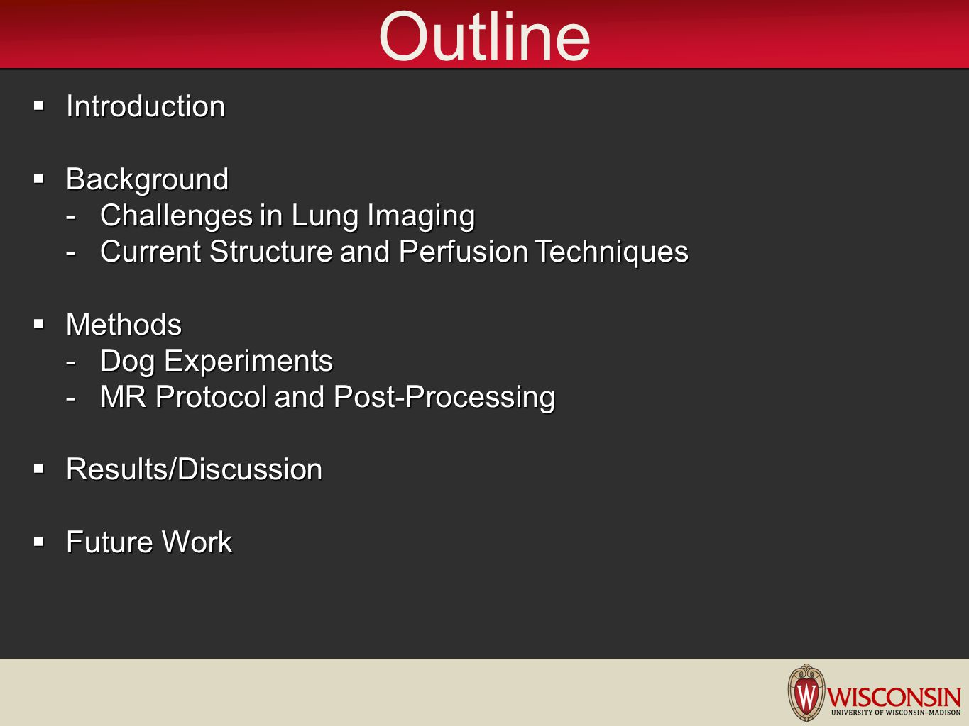 Outline Introduction Background Challenges in Lung Imaging