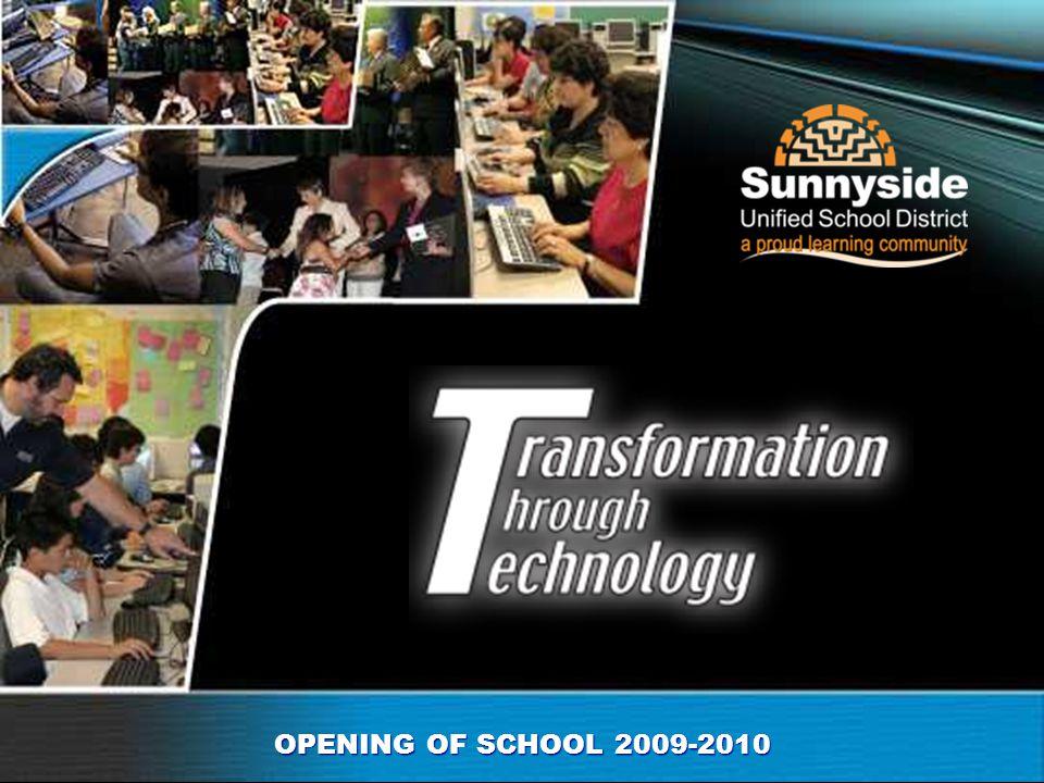 OPENING OF SCHOOL 2009-2010