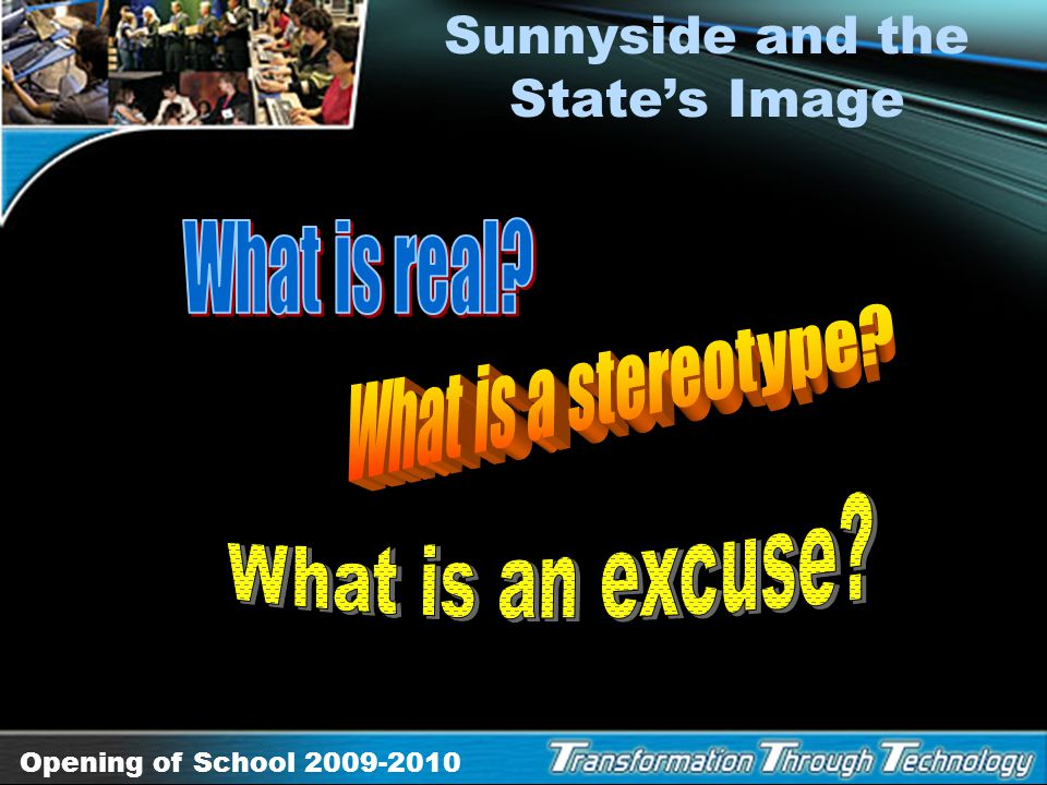 Sunnyside and the State's Image