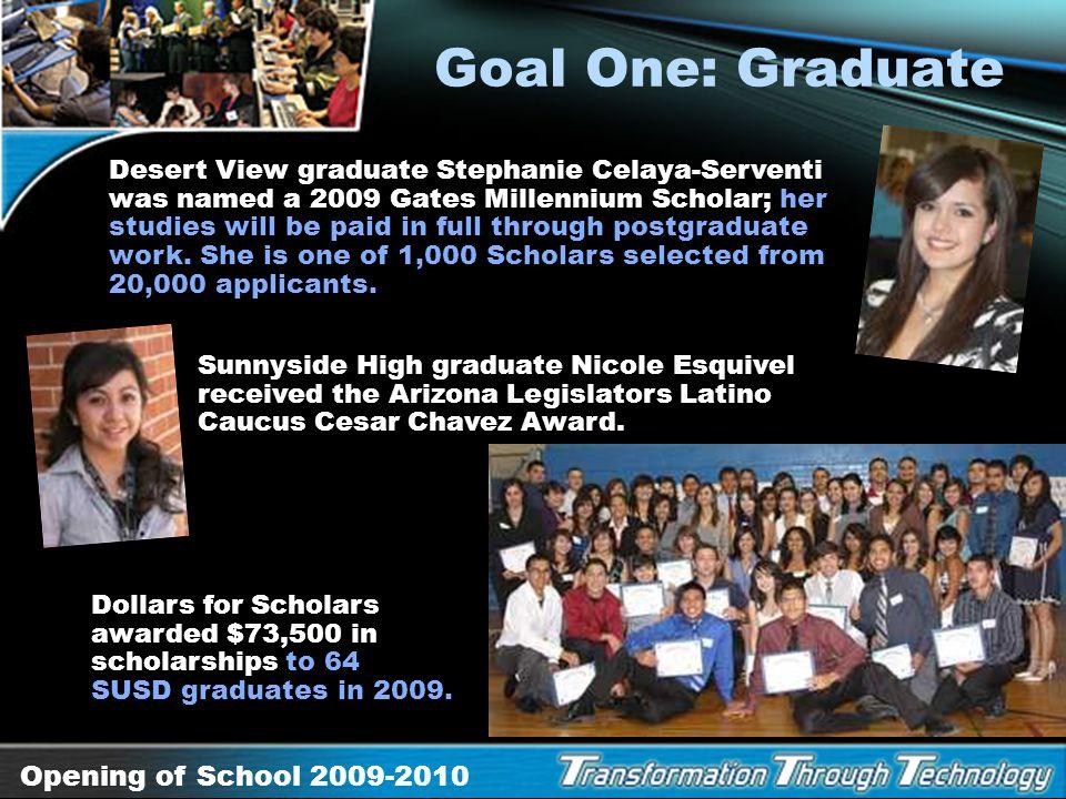 Goal One: Graduate
