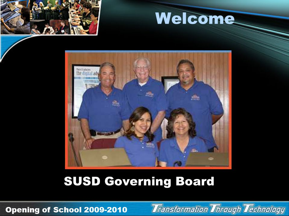 Welcome SUSD Governing Board