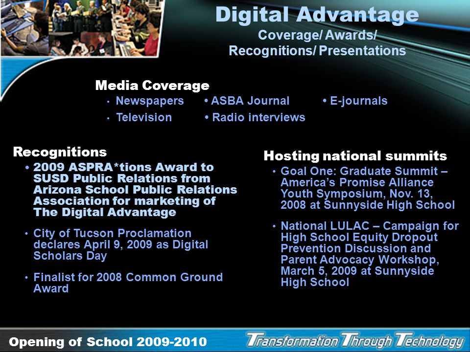 Digital Advantage Coverage/ Awards/ Recognitions/ Presentations