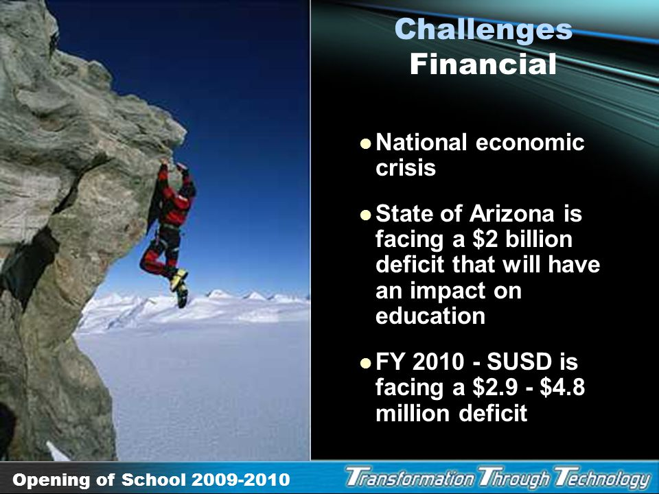 Challenges Financial National economic crisis