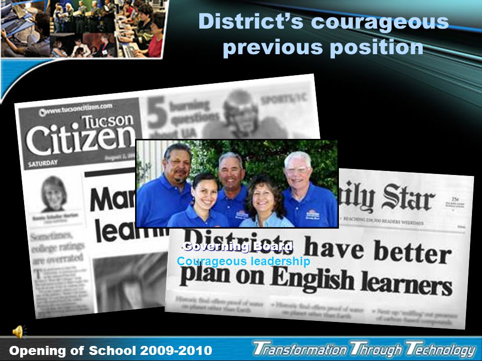 District's courageous previous position