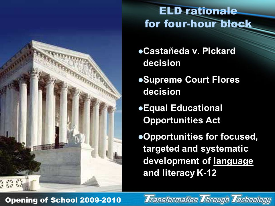 ELD rationale for four-hour block