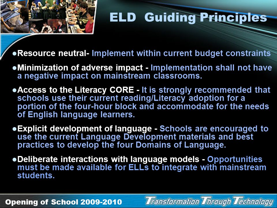 ELD Guiding Principles