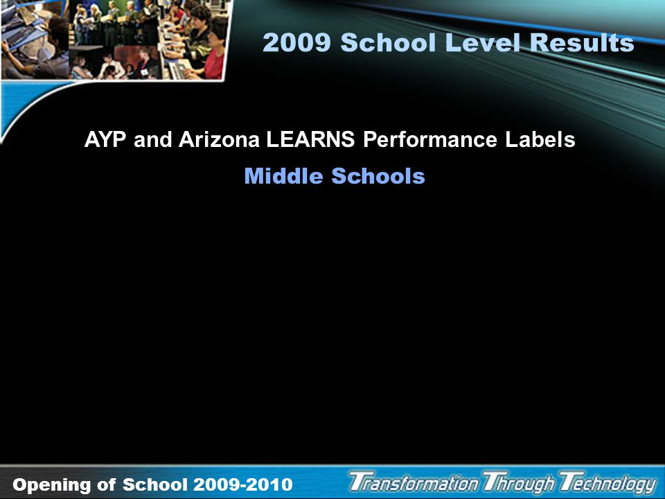AYP and Arizona LEARNS Performance Labels