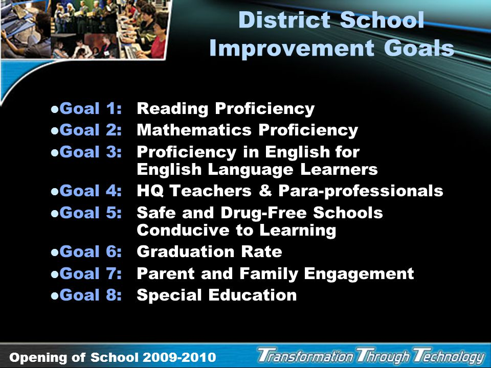 District School Improvement Goals