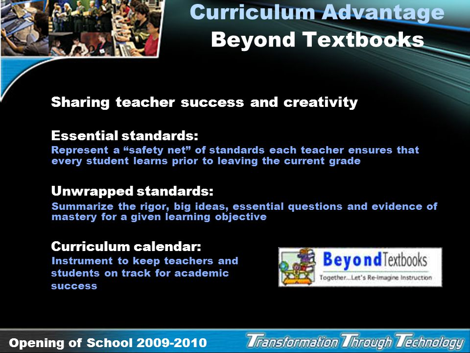 Curriculum Advantage Beyond Textbooks