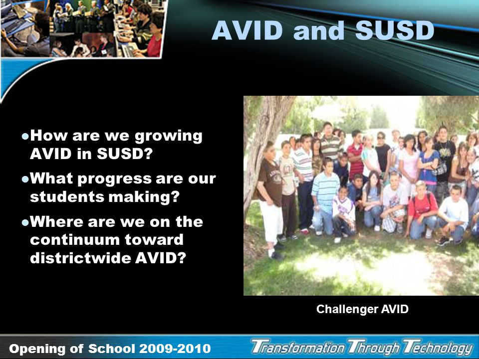 AVID and SUSD How are we growing AVID in SUSD