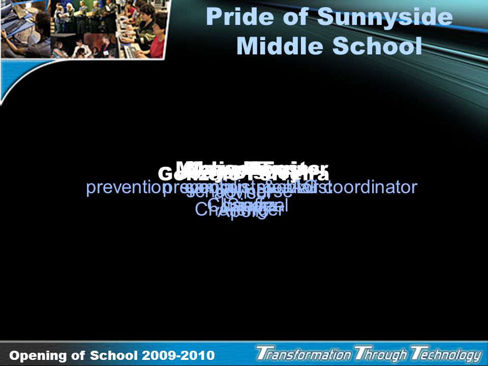 Pride of Sunnyside Middle School