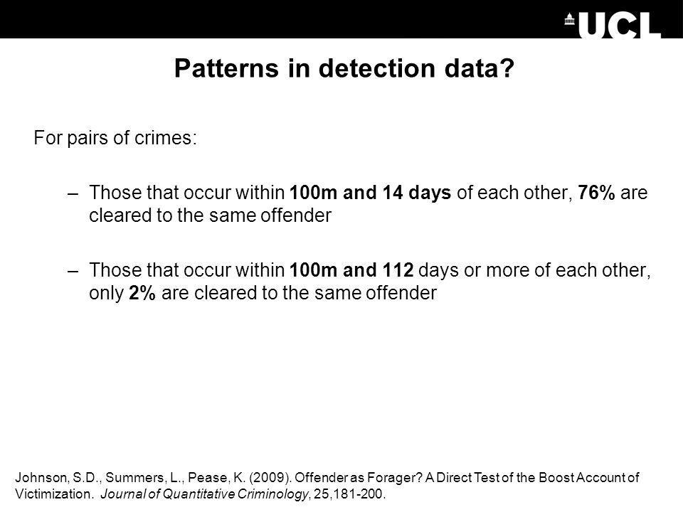 Patterns in detection data
