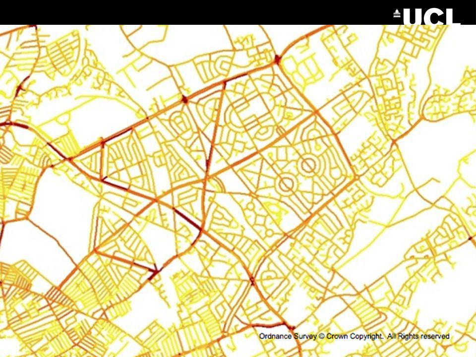 Our most recent work looks at risk at the street segment level and we have shown that the risk of burglary is systematically higher on certain types of segment – types that can be identified through a pure mathematical analysis of the street network.