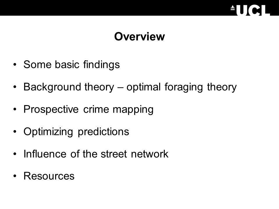 Overview Some basic findings