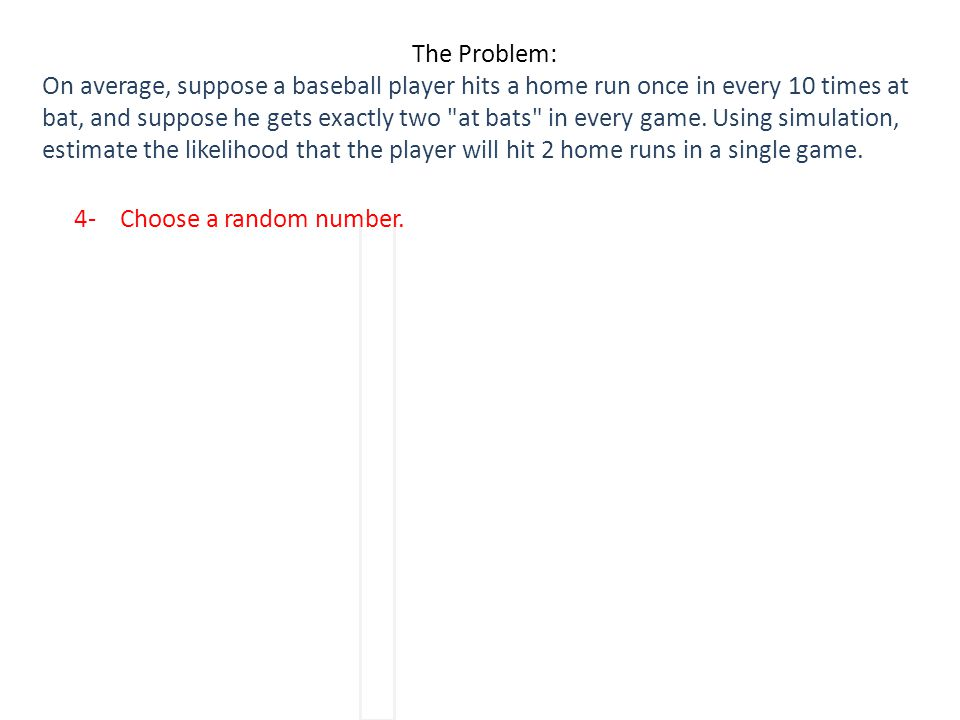 4- Choose a random number.