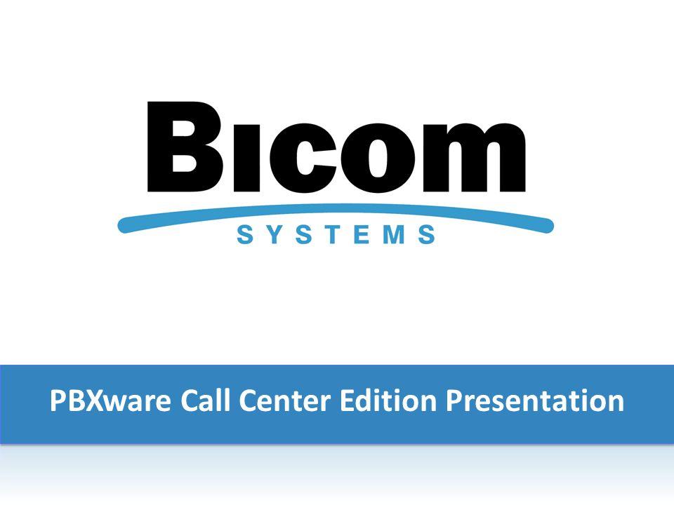 PBXware Call Center Edition Presentation