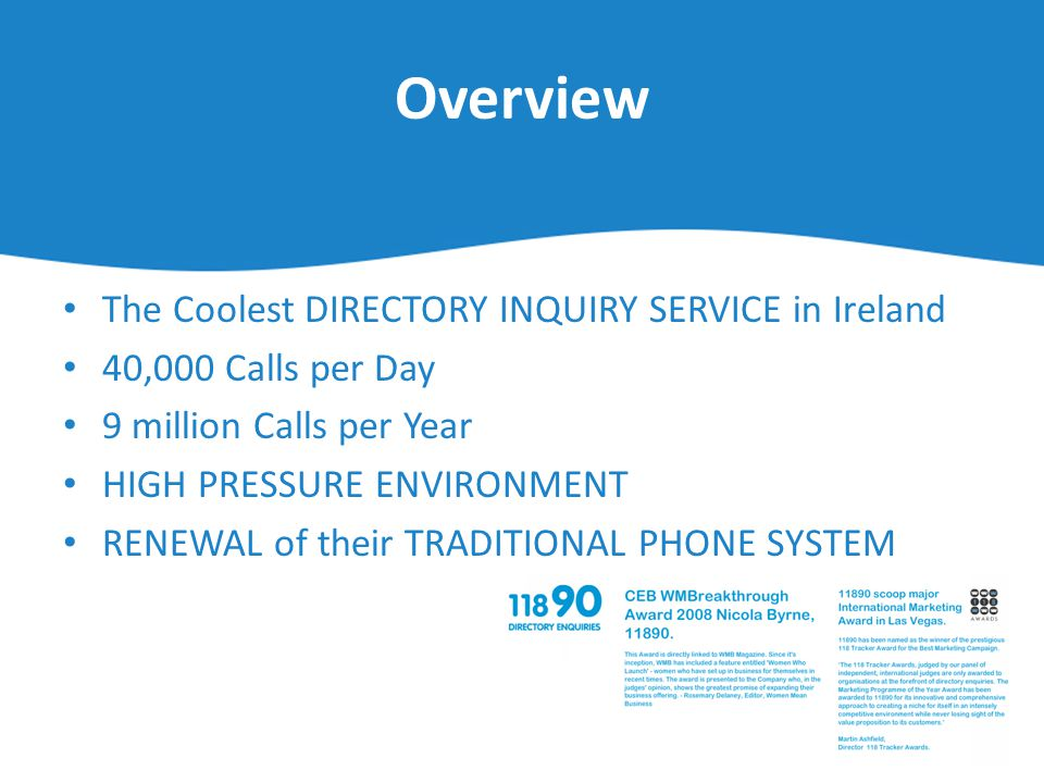 Overview The Coolest DIRECTORY INQUIRY SERVICE in Ireland