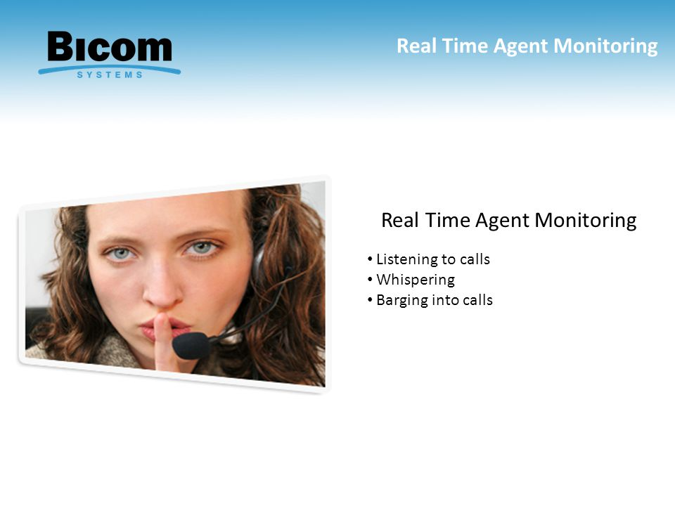 Real Time Agent Monitoring