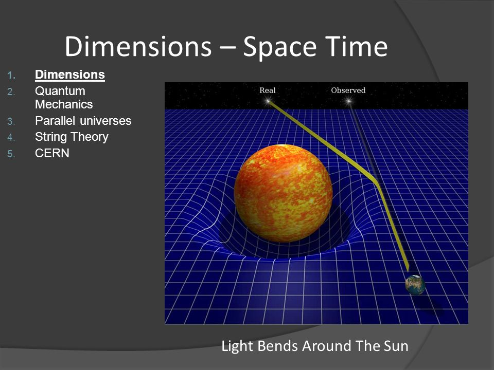 Dimensions – Space Time
